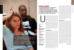 Article Elodie Chanut presse